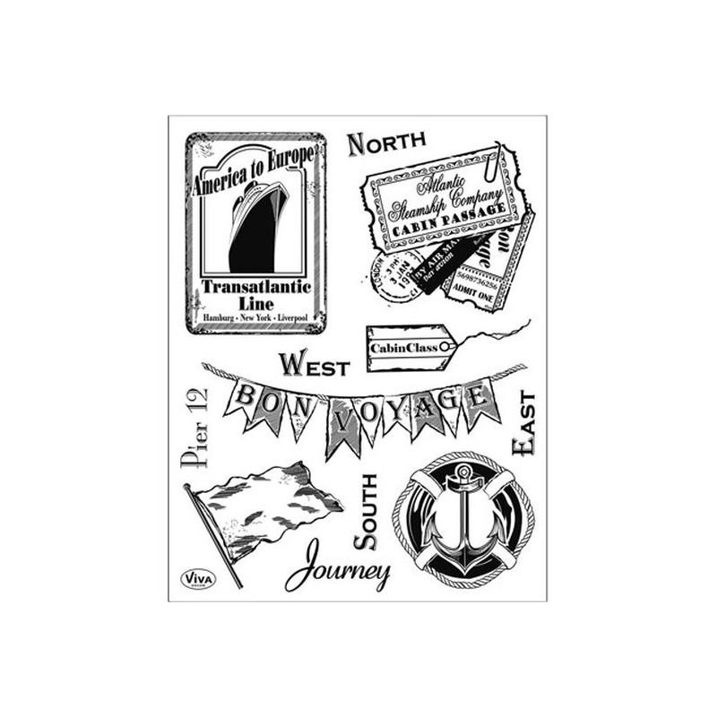 Surtido sellos acrilicos Journey