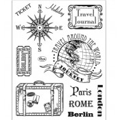 Surtido sellos acrilicos Paris Rome Berlin