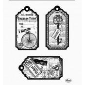 Surtido sellos acrilicos Tag Bicycle
