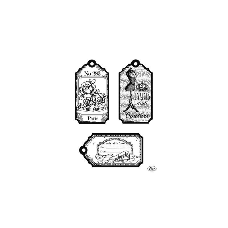 Surtido sellos acrilicos Tags Paris