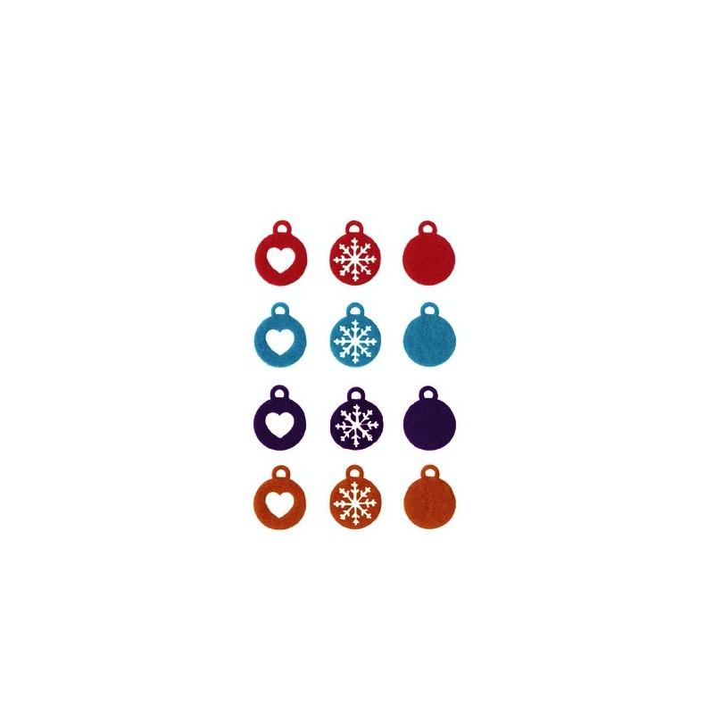 Bolas navideñas de fieltro tendance