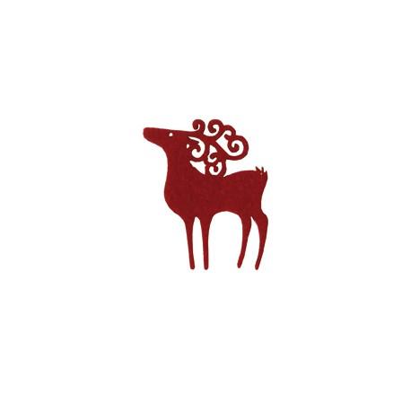 Renos rojos de fieltro