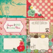 Jack & Jill Girl - 4X6 Journaling Cards