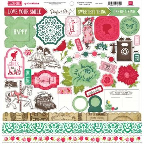 Jack & Jill Girl - Element Stickers