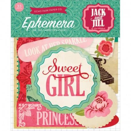 Jack & Jill Girl - Ephemera Die Cuts