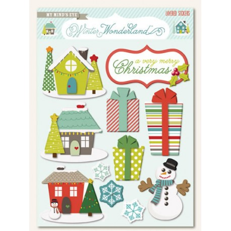 Winter Wonderland Layered Stickers