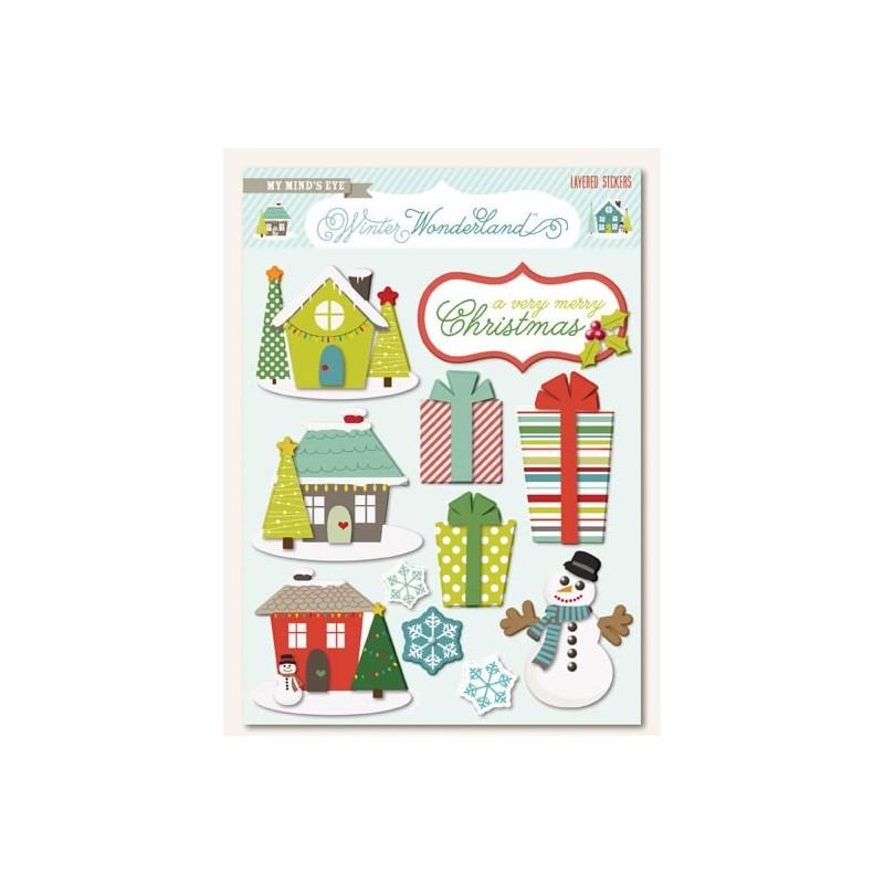 Winter Wonderland Layered Stickers