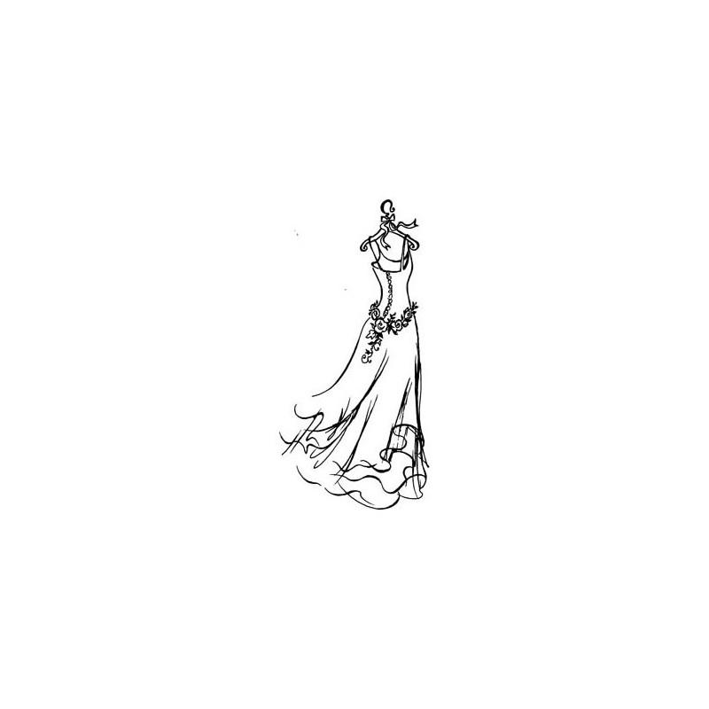 Sello caucho Vestido de Boda