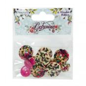 Bohemian Wooden Buttons
