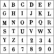 Set sellos Alfabeto Mayúscula