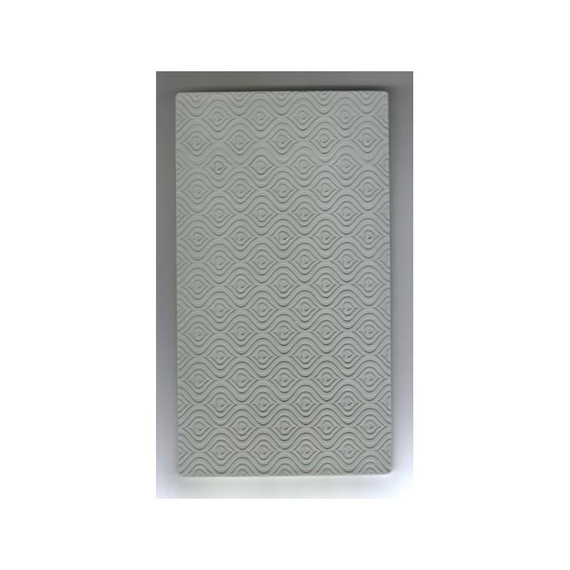 Placa relieve para metal - Olas