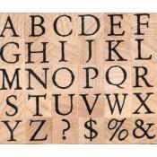 Sellos Alfabeto Mayúscula