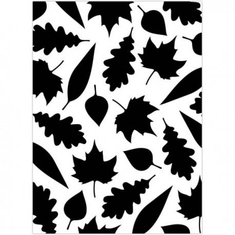 Embossing folder - Leaves Assorted pattern