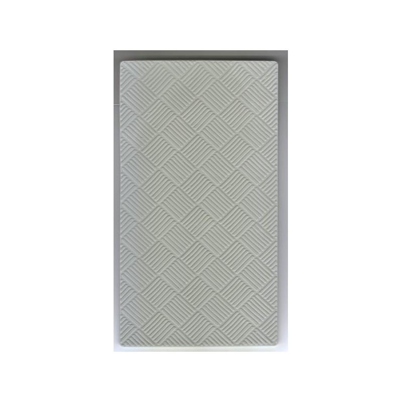 Placa relieve para metal - Damero