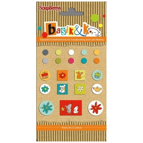 Basic & Ko Decorative Brads 5