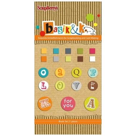 Basic & Ko Decorative Brads 3