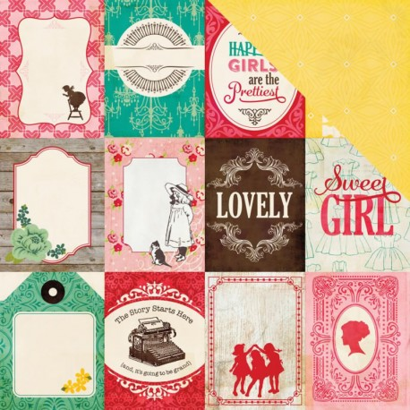 "Jack & Jill Girl - 3""X4"" Journaling Cards"