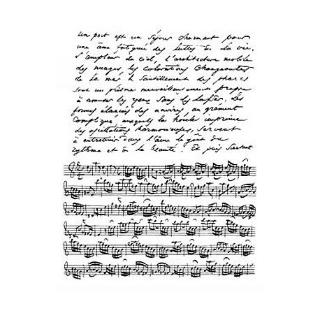 Artemio Sellos acrílicos transparentes Texto y Musica (10001048)