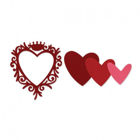 Framelits Die Set - Frame, Heart with Crown