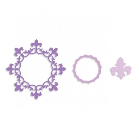 Framelits Die - Frame Circle Lis Flower