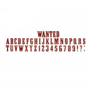 Sizzlits - Strip Die Wanted ABC