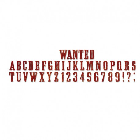 Sizzlits - Strip Die Wanted ABC