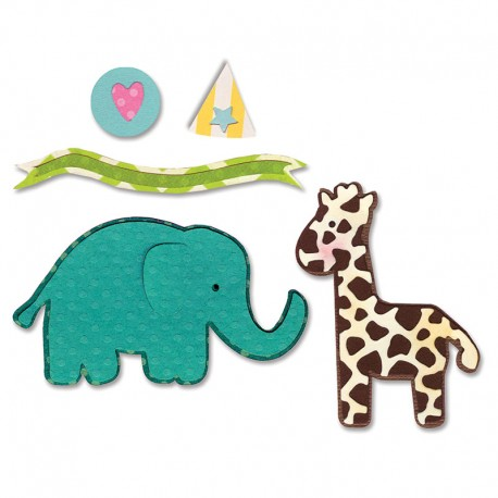 Thinlits Die Elephant and giraffe