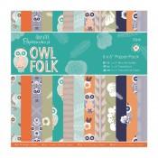 Owl Folk paper pad 15x15