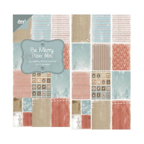 Be Merry 15x30 Paper pad