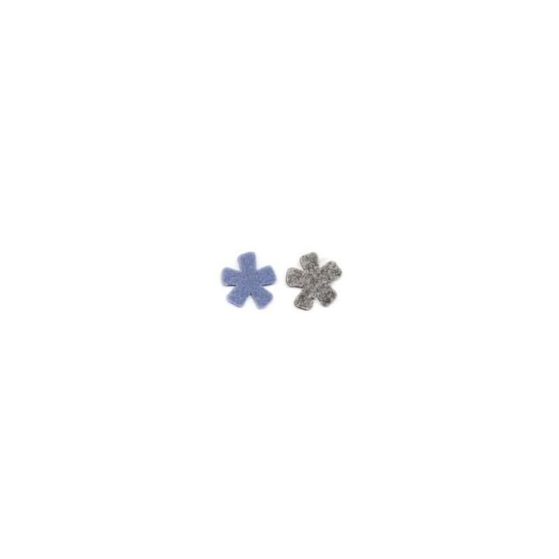 14 flores fieltro Gris Lavanda