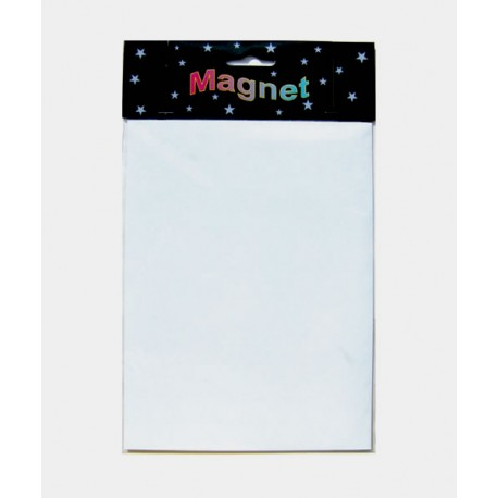 Hoja magnética de color blanco