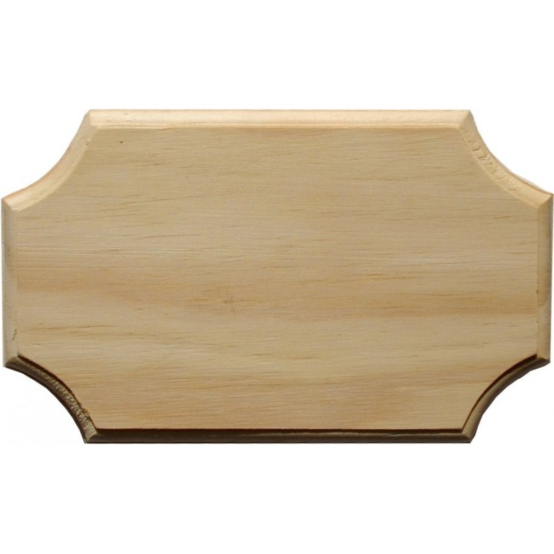 Placa de madera Rectangulo festone