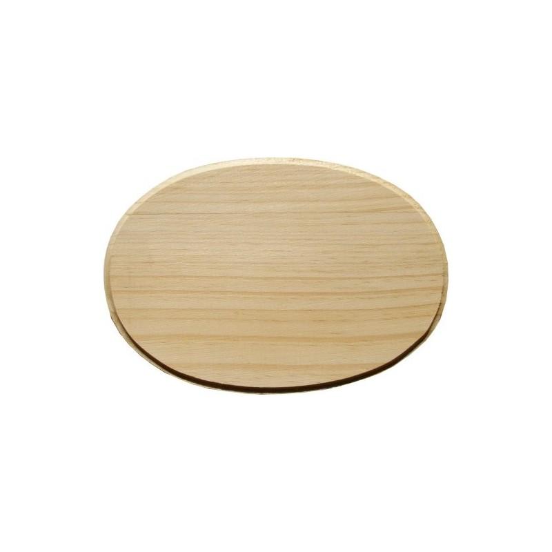 Placa de madera Ovalo