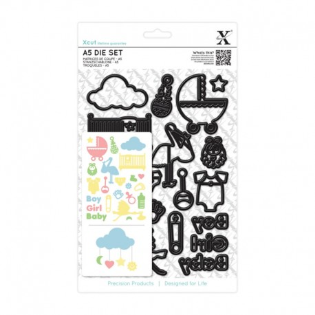 Xcut Large Die Set - New Baby Icons
