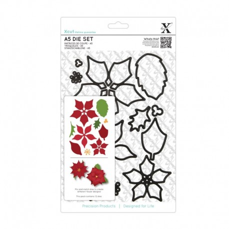 Xcut Large Die Set - Poinsettia