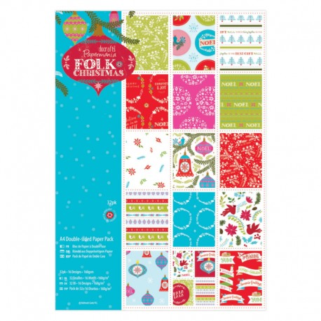 Paper pack Folk Christmas A4