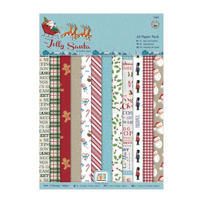 Paper pack Jolly Santa A5