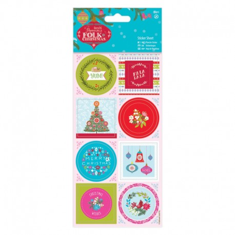 Stickers Folk Christmas