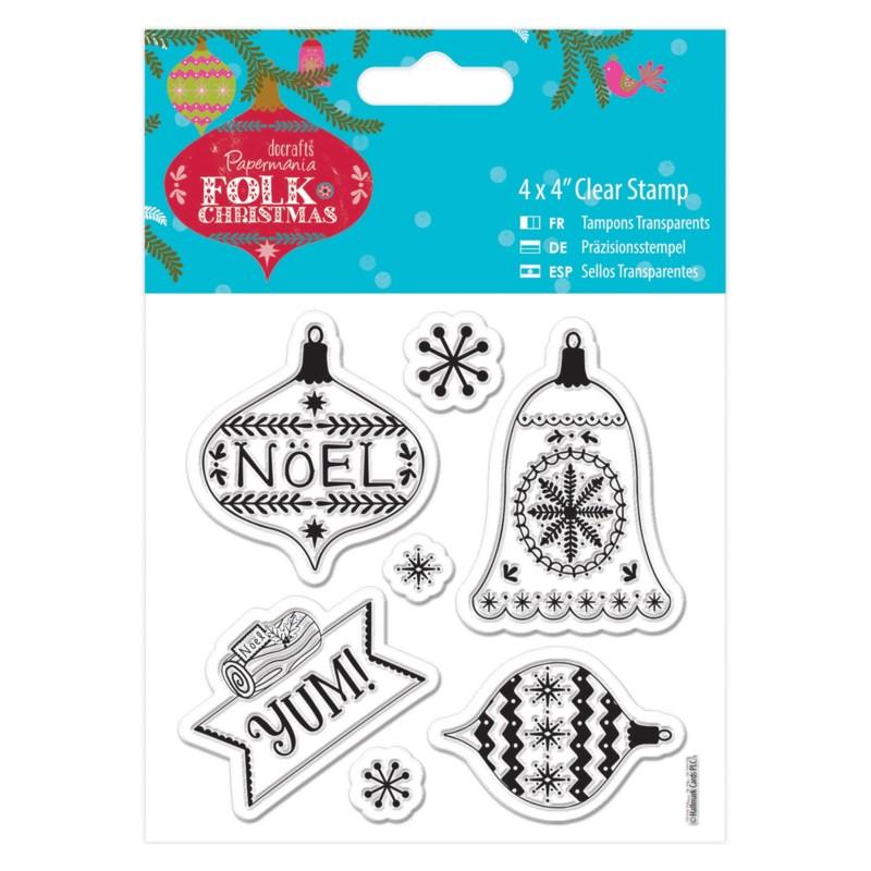 Sello acrilico Folk Christmas - Yum
