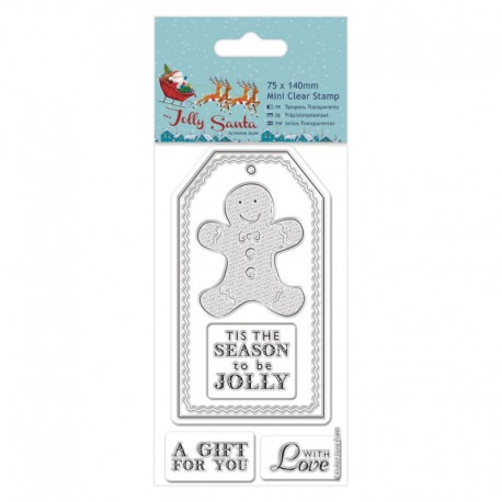 Sellos Acril Jolly Santa - Gingerbread