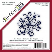 Die-Namites Swirly Poinsettia