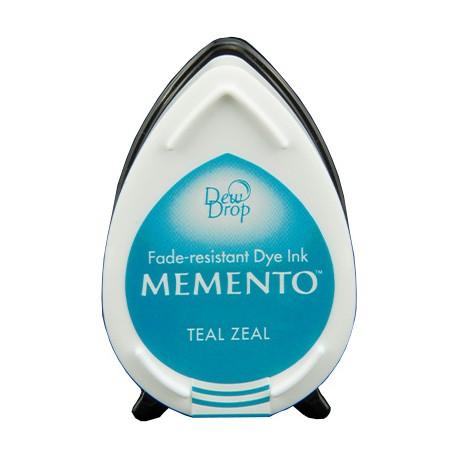 Tampón de tinta Memento Dew Drop Teal Zeal de Tsukineko