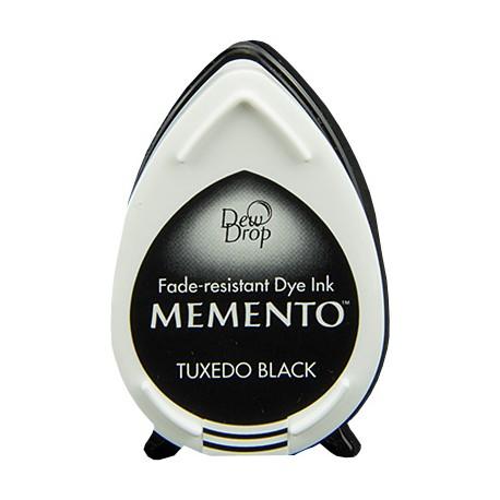 Tampón de tinta Memento Dew Drop Tuxedo Black de Tsukineko