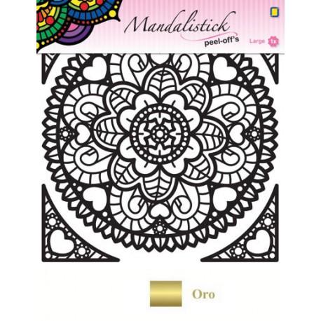 Mandalistick Roseta Oro