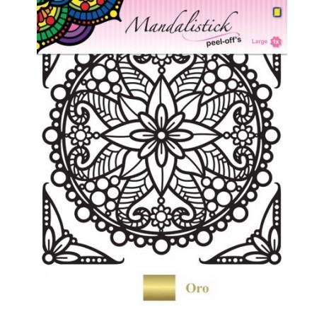 Mandalistick Poinsetia Oro