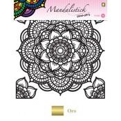 Mandalistick Flor Oro