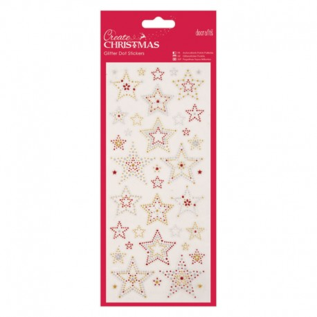 Glitter Dot Stickers - Stars