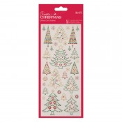 Glitter Dot Stickers - Chirstmas Trees