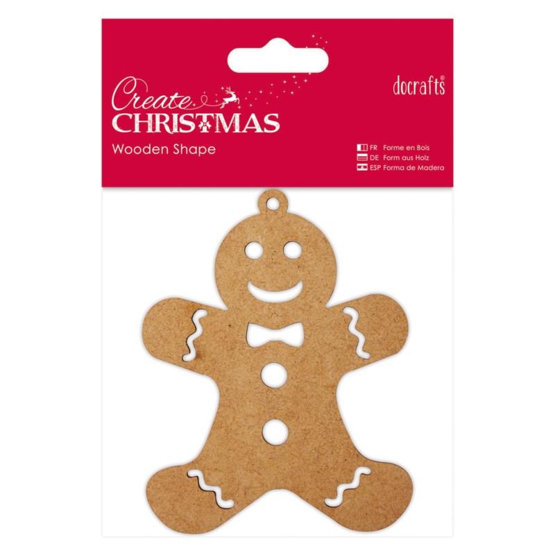 Wooden Shape - Gingerbread Man