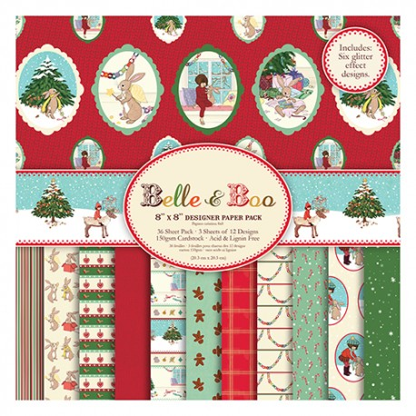 Belle & Boo Christmas Paper Pack 20x20
